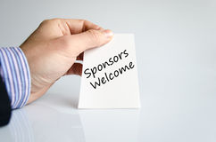 Sponsors welcome text concept stock photography