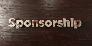 Sponsorship - grungy wooden headline on Maple - 3D rendered royalty free stock image. This image can be used for an online website banner ad or a print stock illustration