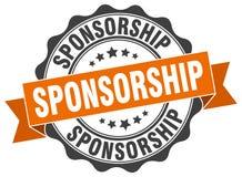 Sponsorship seal. stamp. Sponsorship round seal isolated on white background. sponsorship vector illustration