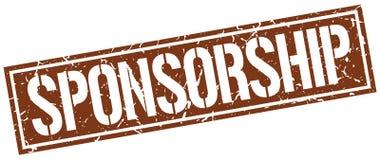 Sponsorship stamp. Sponsorship square grunge sign isolated on white. sponsorship vector illustration