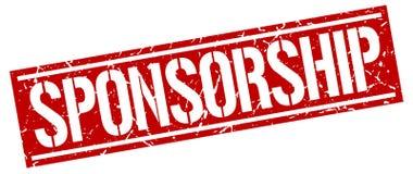 Sponsorship stamp. Sponsorship square grunge sign isolated on white. sponsorship royalty free illustration