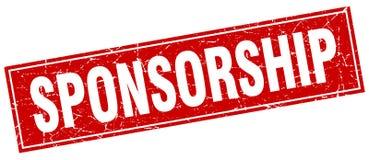 Sponsorship stamp. Sponsorship square grunge stamp. sponsorship sign. sponsorship vector illustration