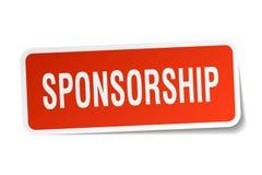 Sponsorship sticker. Sponsorship square sticker isolated on white background. sponsorship royalty free illustration