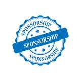 Sponsorship stamp illustration. Sponsorship blue stamp seal illustration design Stock Photo