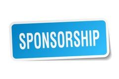 Sponsorship sticker. Sponsorship square sticker isolated on white background. sponsorship stock illustration