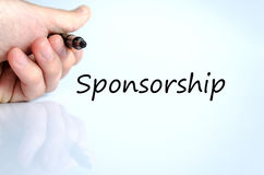 Sponsorship text concept stock photography
