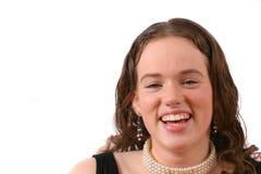 Spontane lach stock foto
