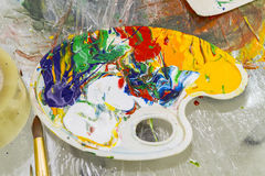 Spontane Malerei Lizenzfreies Stockbild