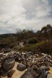 Spontaneous garbage dump on a beach Vietnam stock image