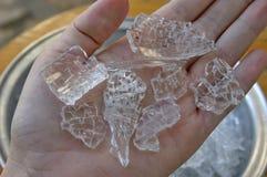Spontaneous glass breakage Stock Images