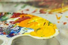 Spontaneous painting Stock Image