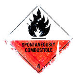 Spontaneously combustible royalty free illustration