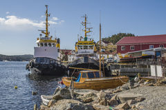 Tugboats in sponvika Stock Images