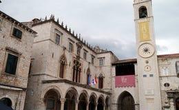 Sponza, дворец в Дубровнике Стоковое Фото
