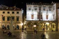Sponza Palace at night. Dubrovnik. Croatia Royalty Free Stock Photography