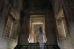 spook in Angkor Wat, Kambodja Stock Afbeeldingen
