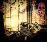 Spook in boiler-huis Stock Foto's