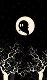 Spook in de nacht Royalty-vrije Stock Afbeelding
