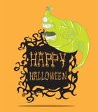 Spook. Halloween-monster Royalty-vrije Stock Foto's
