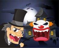 Spook house cartoon illustration Stock Photos