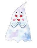 Spook in liefde op een witte achtergrond Royalty-vrije Stock Afbeelding