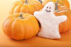 Spook met pompoen Stock Afbeelding