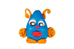 Spook from plasticine Stock Photography