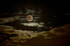 Spookachtige Maan Royalty-vrije Stock Afbeelding