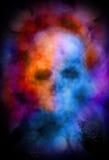 Spookachtige schedelsamenvatting Stock Foto's