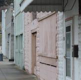 Spookachtige verlaten straat royalty-vrije stock fotografie