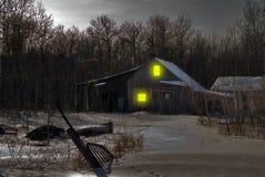Spookhuis stock fotografie