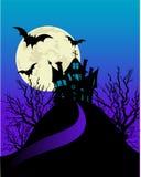Spookhuis flayer vector illustratie