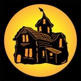 Spookhuis voor Halloween Stock Foto's