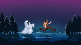 Spooknacht 01 Royalty-vrije Stock Afbeelding