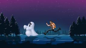 Spooknacht 01 vector illustratie