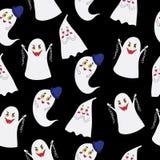 Spookpatroon op een zwarte achtergrond Stock Fotografie