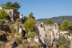 Spookstad (Kayakoy), Turkije Royalty-vrije Stock Fotografie