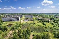 Spookstad in Letland stock afbeeldingen