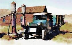 Spookstadvrachtwagen Stock Afbeeldingen