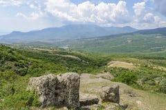 Spookvallei, Demerdzhi-berg, de Krim Stock Afbeeldingen