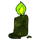 Spooky black candle cartoon Royalty Free Stock Images