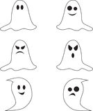 Spooky Black and White Ghost Illustrations Stock Photo