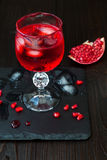 Spooky bloody cocktail. Traditional  drink recipe for Halloween party Royalty Free Stock Photography