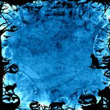 Spooky blue halloween background Stock Photos
