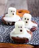 Spooky Boo ghost cookies Stock Images