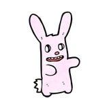 spooky bunny rabbit cartoon Stock Image