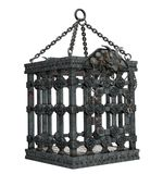 Spooky cage. 3D render of a spooky metal cage royalty free illustration