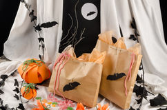 Spooky candy bags Royalty Free Stock Images