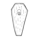 Spooky cartoon coffin Stock Image