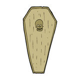 Spooky cartoon coffin Royalty Free Stock Image